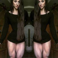 - WOMEN's muscular ATHLETIC LEGS especially CALVES - daily update!: Bakhar Nabieva Huge Muscular Quads