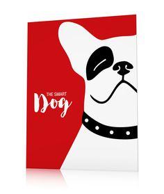 Poster bouledogue français tableau chien coloré Smarty - QoraShai