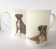 Boxer Dog  Mug by ksnelling2014 on Etsy
