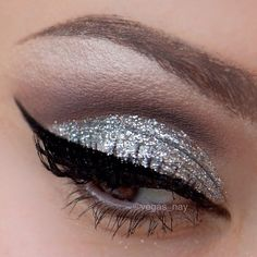 Add some sparkle to your makeup with our loose glitter! Using our #02 Silver Loose Glitter with our eyeliner activator you will be able to create this amazing look like @vegas_nay All products are available on our online store and for a limited time use this promo code 'VEGAS_NAY' for 10% off your purchase!! - @masquerade_cosmetics- #webstagram