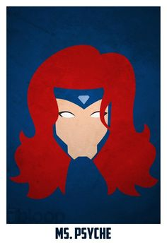 Bloops superhero posters - Jean Grey [X-Men]