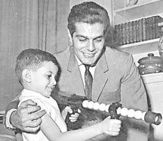 Omar Sharif and his son Tareq