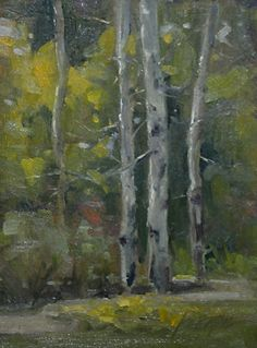 "Botanic Gardens, Cheyenne by Mike Beeman Oil ~ 8"" x 6"""