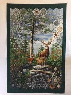 Form of stack and whack Lap Quilts, Panel Quilts, Small Quilts, Quilt Blocks, Wildlife Quilts, Watercolor Quilt, One Block Wonder, Landscape Art Quilts, Kaleidoscope Quilt