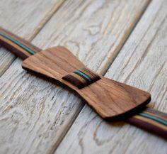 """Wooden Bow Tie """"Oak - Mr. Stark """""""