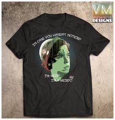 Riverdale inspired shirt/Jughead I'm a weirdo quote/