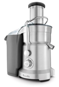 Juice and Puree in one machine. This commercial-quality juicer has a second disc that purees soft fruits for fruit smoothies. Gets the most juice out of a wide variety of fruits and vegetables, from delicate berries to crisp apples. Specialty Appliances, Small Appliances, Kitchen Appliances, Kitchens, Best Juicer Machine, Centrifugal Juicer, Juicer Reviews, Electric Juicer, Machine Expresso