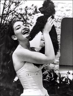Maria Callas & Her Poodle, Toy
