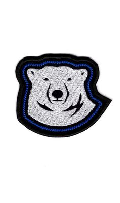 Polar Bear Face outline Patch Bear white Badge Iron on Patch<<<all patches make me think of Michael Mell, I'm not sprry Cute Patches, Pin And Patches, Sew On Patches, Iron On Patches, Bob Marley Uprising, Polar Bear Face, Face Outline, Michael Mell, Be More Chill