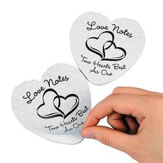 "Two Hearts Wedding ""Love Notes"" Notepads - TerrysVillage.com"