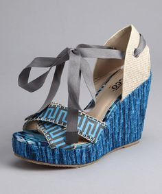 Take a look at this Blue Hakea Espadrille by Spring Soles: Women's Shoes on #zulily today!