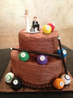 We'll have to have a pool cake for Aaron's grooms cake! Pool Table Cake, Pool Cake, Pool Wedding, Wedding Candy, Wedding Stuff, Tall Cakes, Big Cakes, Zombie Wedding Cakes, Sports Themed Cakes