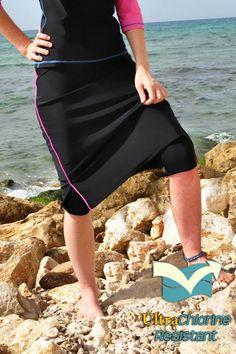 I'm totally ordering this for next summer.  Modest Swimwear - Chlorine Proof Swim Skirt