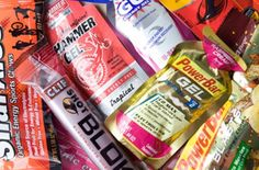 All you need to know about energy gels--    I tried a GU energy gel yesterday on an 8 mile run. Yeuuugh. Honey Stinger Gels are my first choice and Clif Shot Blocks are a close second.