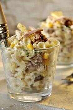 Sałatka hawajska Anti Pasta Salads, Pasta Salad Recipes, Diet Recipes, Healthy Recipes, Recipies, B Food, Recipe Collection, Appetizer Recipes, Appetizers