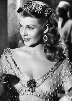 """Sensitive, shy - of course I was. The fun of acting is to become someone else."" Rita Hayworth."