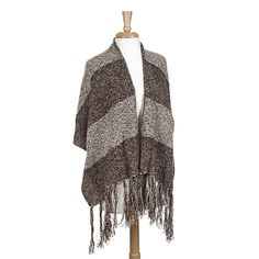Wholesale brown white heavyweight shawl fringe Made acrylic