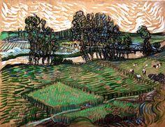 Vincent van Gogh - Landscape with Bridge across the Oise, 1890
