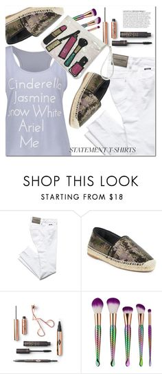 """""""Slogan T-Shirts"""" by fshionme ❤ liked on Polyvore featuring Marc Jacobs, Anja, Summer and slogantshirts"""