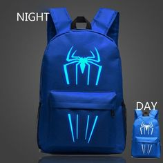 VN 2016 New Fashion Spiderman Backpacks For Kids Luminous Backpacks For Teenagers Children School Bags Spider Man For Kids Fans