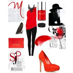 Red Hot, created by cassiecclayton on Polyvore
