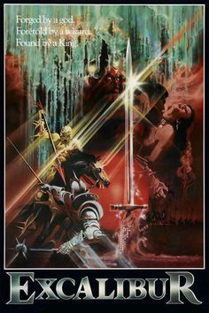 Excalibur Movie Poster - (1981) directed by John Boorman