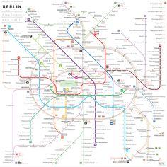Simplified Berlin Subway Map