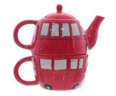 Ceainic cu ceasca autobuz londonez - Moniz gift ideas decoratiuni si cadouri