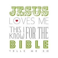 I can hear my patent leather shoes clicking down the halls of Sunday School just reading it!  Free Jesus Loves Me Printable 12x12