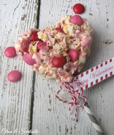 #Valentine's Day #Popcorn Pops  15 Romantic Red and Pink Desserts | All Yummy Recipes