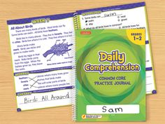 Daily Comprehension Common Core Practice Journal - Gr. 1-2 - Each