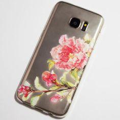 pink blooming flower samsung galaxy s7 edge case