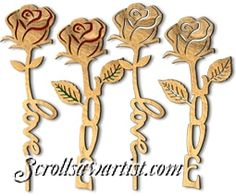 Love-stemmed roses scroll saw pattern downloadable Scroll Saw Patterns Free, Scroll Pattern, Cross Patterns, Hand Embroidery Patterns, Pattern Art, Free Pattern, Letter Ornaments, Globe Ornament, Wood Carving Patterns