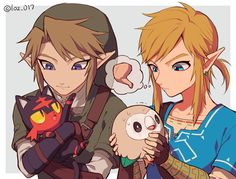 Link from Twilight Princess and Breath of the Wild with pokemon | Legend of Zelda
