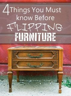 Are you in the market for a great piece of furniture to flip? Take a look at these guidelines before you get started! Great places to find perfect pieces for flipping include garage sales, estate s...