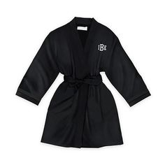 KIDS Black Flower Girl Personalized Satin Robe, Child's Robe, Bridal Party robes, flower girl robe g Flower Girl Robes, Flower Girl Gifts, Bridal Party Robes, Bridal Gifts, Junior Bridesmaid Gifts, Plus Size Robes, Affordable Bridal, Lounge Wear, Shopping