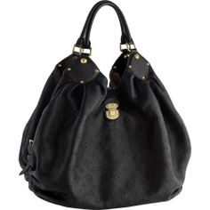 Absolutely stunning & limited edition: Louis Vuitton Mahina leather XL noir women's shoulder bag - with the Louis Vuitton laser cut into the sumptuous leather for maximum precision...x