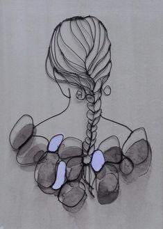 sculptural drawing by christina james nielsen … sculptural drawing by christina james nielsen Mais Wire Crafts, Rock Crafts, Metal Crafts, Arts And Crafts, Sculptures Sur Fil, Sculpture Art, Stylo 3d, Art Du Fil, Metal Artwork