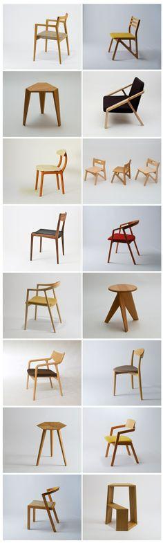 #chairs #inspiration #wood #fabric #MiyazakiIsu