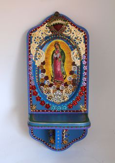 the virgin rose altar shrine with Our Lady of Guadalupe