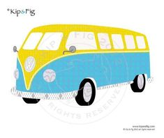 VW Camper van applique template