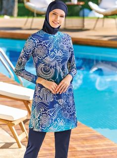 Adasea 4076 Full Cover Burkini Swimsuit is one of the most stylish set of 2019 spring - summer collection Adasea 4076 Full Cover Burkini Swimsuit details, Maillots de Bain pour Femme Adasea 4076 full cover burkini swimsuit Islamic Swimwear, Muslim Swimwear, Modest Fashion, Hijab Fashion, Fasion, Hijab Trends, Piercings, Modest Swimsuits, Red Swimsuit