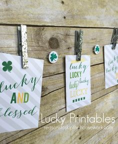 Lucky Printables - Reasons To Skip The Housework