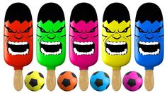 Learn Colors with HULK Ice Cream HAMMER XYLOPHONE BAD BABY Soccer Balls ...