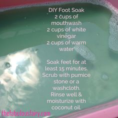 DIY Foot Soak-- It's better than any pedicure I've ever paid for!! 3 ingredients and 15 minutes is all it takes!