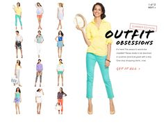 Awesome summer outfit ideas via J. Crew Factory!