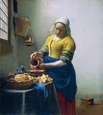 """""""La Laitière"""" / """"The Milkmaid"""", Johannes Vermeer © Rijksmuseum Amsterdam Johannes Vermeer, National Gallery Of Art, Art Gallery, Online Gallery, Caravaggio, The Milkmaid Vermeer, Painting Frames, Painting Prints, Art Print"""