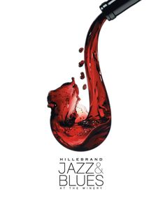 I like how the wine being poured turns into a saxophone. Very clever way to symbolize jazz.