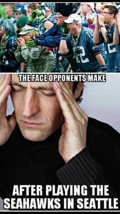 Seahawks are Loud and Awesome! Seattle Football, Nfl Football Teams, Best Football Team, Football Memes, Nfl Sports, Seattle Seahawks, Sports Teams, Seahawks Memes, Seahawks Fans