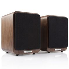 The aim with the Ruark Audio Bluetooth Speaker System was to create compact speakers, capable of giving high quality sound in multiple applications (Walnut). Hifi Audio, Bluetooth Speakers, Complete Music, Desktop Speakers, Cool Desktop, Music System, Quirky Gifts, Speaker System, Home Cinemas